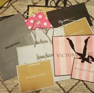 Mixed Lot Name Brand Empty Store Bags 10 Pcs.